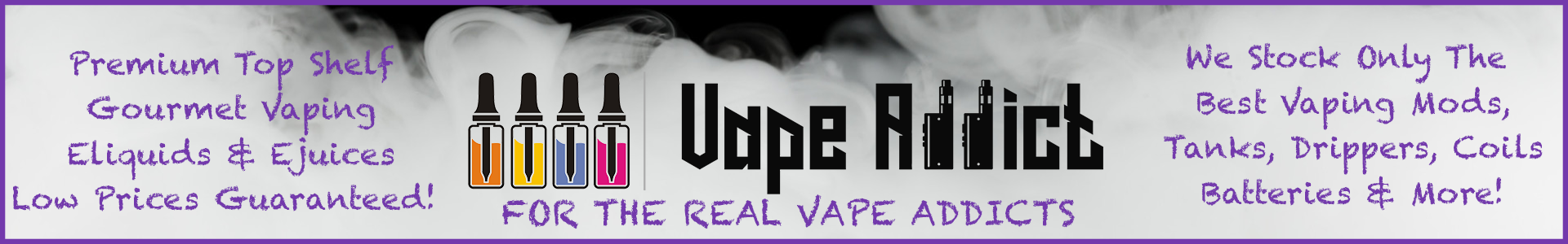 VapeAddict.co - Premium Vaping Eliquids & Ejuices - Vape Tanks, Mods, Drippers